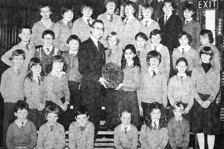 St Marie's Primary School's Chess Club in 1981.
