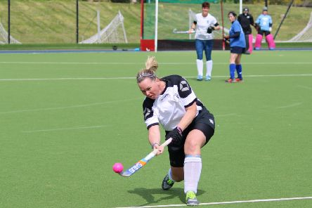 Jen Callaghan in training for the European Hockey Masters Championships. (Pic by Allana Willox)