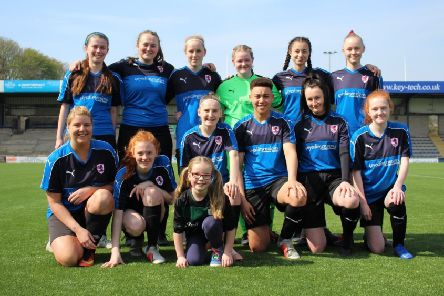 Some of the Raith Women's squad, who will be in action against Cove Rangers at Stark's Park this Sunday (KO noon).