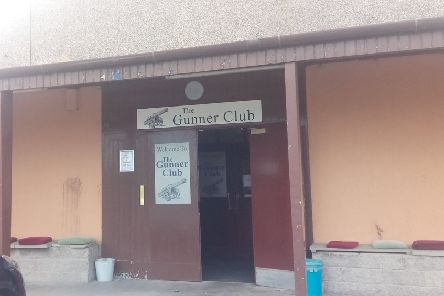 The entrance to the Gunner Club.