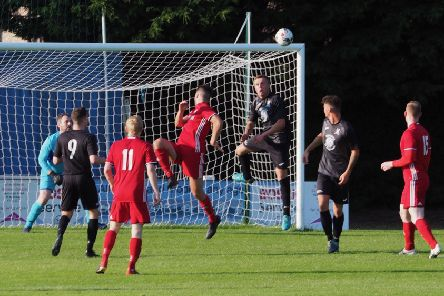 St Andrews United go up against Broughty. Pic Blair Smith.
