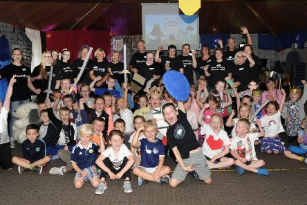 The medieval-themed holiday club took place at  Newcraigs Church, Forres Drive, Kirkcaldy,  this week. Pic: George McLuskie.
