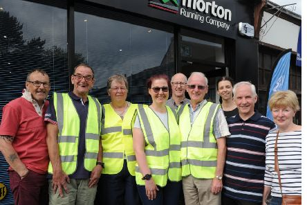 Some of the volunteers and committee members of Kirkcaldy Half Marathon which takes place this Sunday. Pic: George McLuskie.