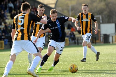 Jamie Gullan in action for Raith Rovers against East Fife last season (Pic by Fife Photo Agency)