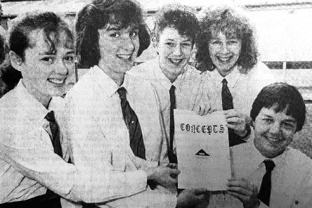The Balwearie High School pupils behind 'Concepts' in 1988 made a profit of �64 after a successful year running a  business called 'Concepts' as part of the Youth Enterprise Scheme in 1988.