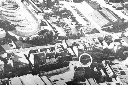 Aerial view of Kirkcaldy High Street in 1978.