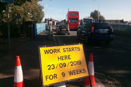 The works will be in place for nine weeks.