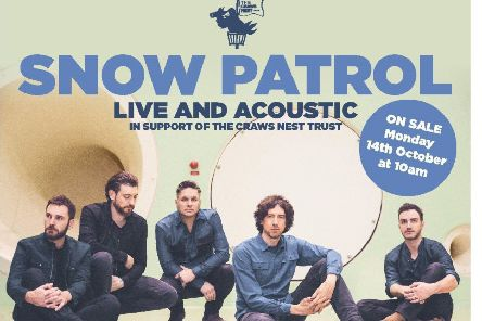 Snow Patrol - poster for acoustic gig at the Alhambra, Dunfermline