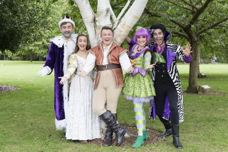 The cast of Jack and the Beanstalk at the Adam Smith Theatre, Kirkcaldy.  Pic: Tom Illsley