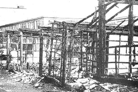 The aftermath of the Viewforth fire in 1977
