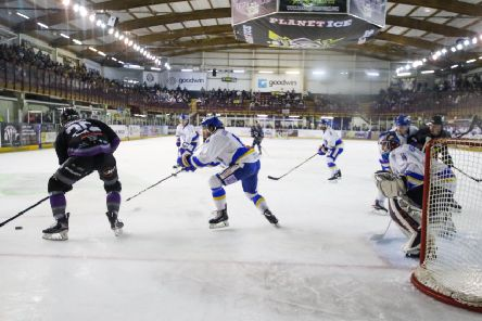 Fife Flyers at Manchester Storm (Pic: Mark Ferriss)