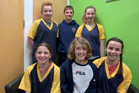 Cupar and District swimmers at the East District Age Group Championships in Glenrothes