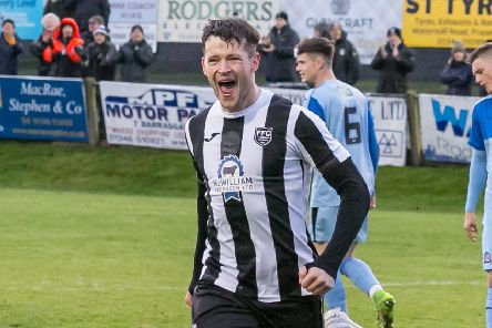 Ryan Cowie opens the scoring for Fraserburgh after two minutes.