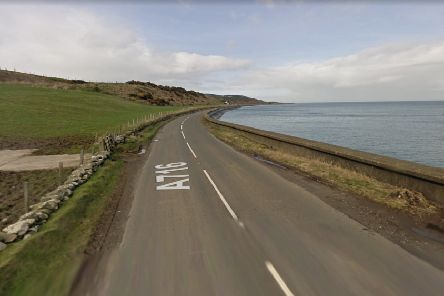 The A716 Drummore Road where James and Susan Kenneavy's car left the road. Image copyright: Google