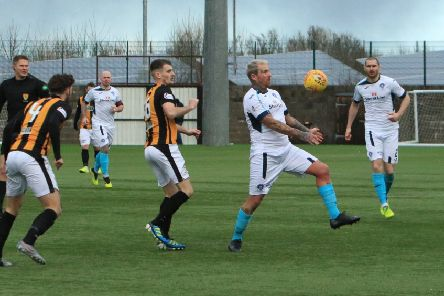 Ryan Stevenson takes on the East Fife defence (pic: Bill McCandlish)