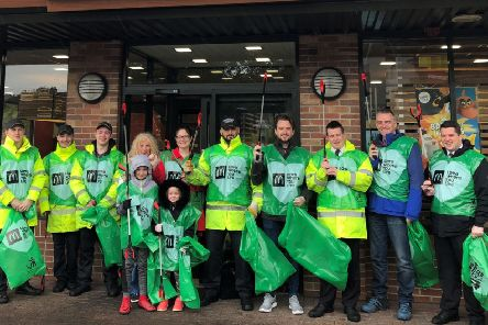 The volunteers collected 13 bags of rubbish