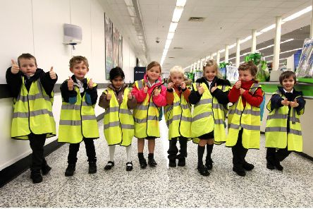 The partnership gives Mearns Primary pupils the chance to learn from retailers.