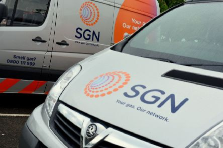 SGN is carrying out gas network upgrade work in Giffnock.