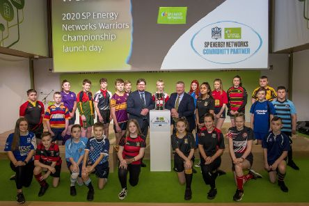 The Launch of the SP Energy Networks Warriors Championships with representatives of the schools taking part meeting Warriors players.  ''(Photo: � Craig Watson')