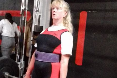 Joyce Park broke British records again at the Scottish Masters Powerlifting Championships in Glasgow