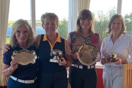 Ladies prizewinners - from the left - Yvonne Scott, Rose Riddell, Fiona Lamont and Fiona Currie.