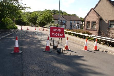 The road was closed in mid-July following subsidence