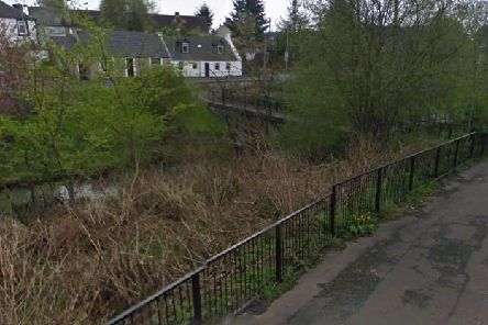 Luggie Water and Old Duntiblae Road, Kirkintilloch -  Copyright Google Images