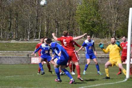 Rob Roy went down to a stoppage time goal at Glenfton (pic by Neil Anderson)