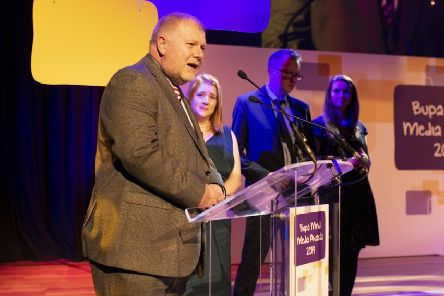 Pictured at the awards ceremony are, from left, Tim Robinson, content development director; Claire Wilde, data and investigations news editor; Cahal Milmo, i chief reporter, and Ruby Kitchen, of the Yorkshire Post. (Photo: Chris O'Donovan)