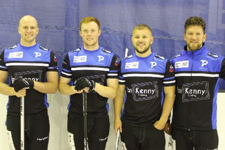 Team Paterson are representing Scotland at the European Championships. Left to right are Michael Goodfellow, Duncan Menzies, Kyle Waddell and skip Ross Paterson (pic: Scottish Curling)