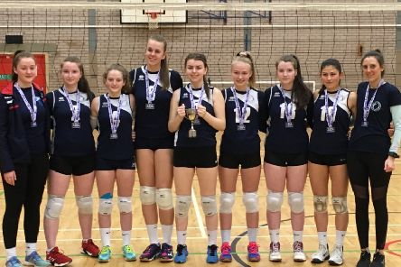 Members of City of Edinburgh Volleyball Club are celebrating after becoming under-16 Scottish Volleyball League champions again