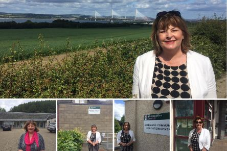 Fiona Hyslop on her surgery tour.