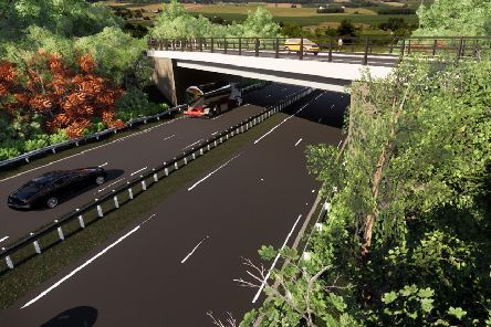 An artist's impression of the new Burnshot Bridge near Kirkliston.