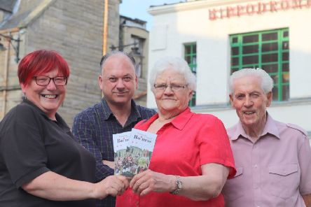 Representatives from Bo'net with the revamped leaflet promoting Bo'ness to tourists. From left: Wendy Turner, Stuart McAllister, Madelene Hunt and Lennox Ainslie.