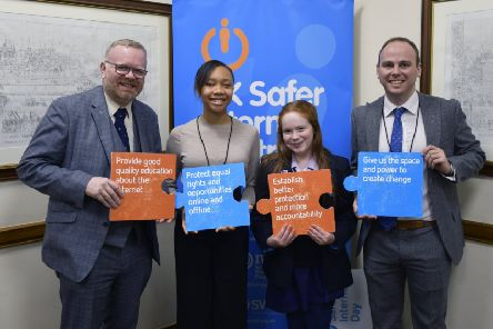 Martyn Day MP (left) welcomed the work being done by the UK SIC.