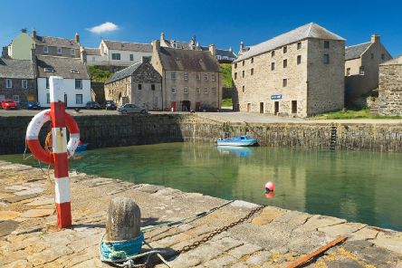 The village of Portsoy provided the filming location for the Hollywood remake of Compton McKenzies book, Whisky Galore.