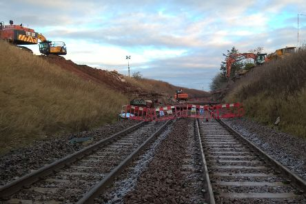 Abbeyton Bridge was dismantled over Christmas. Picture: Aberdeenshire Council