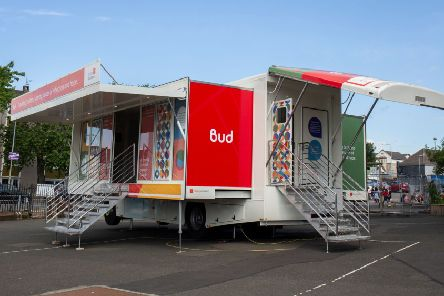 The exhibition-on-wheels is travelling around Scotland highlighting the importance of remembrance.