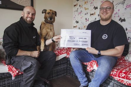The brewery donated �487 to Mrs Murray's Cat and Dog Home