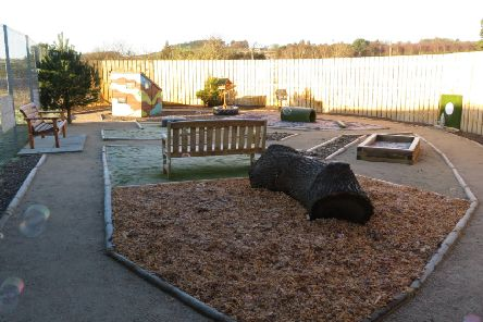 The Woof Top Sensory Garden is a partnership project with BrewDog. Picture: Scottish SPCA