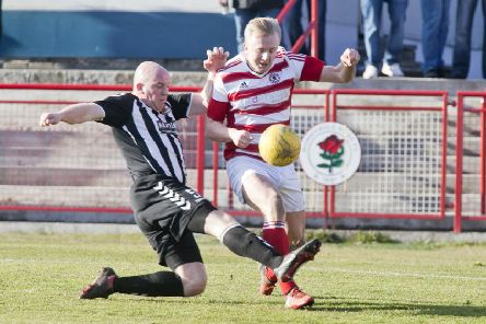 Keiran McGachie in action for the Rose (archive)