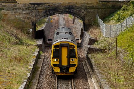 Stock image of The Borders Railway at Eskbank