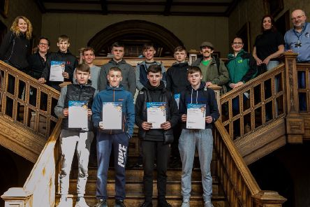 Young adults receiving their Saltire awards at Newbattle Abbey College, Dalkeith''In. Pic .''''(c) Wullie Marr Photography