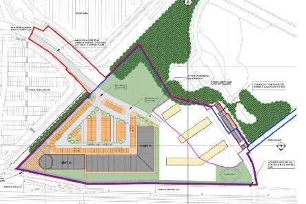 The site plan for a new business park and homes off Dalhousie Road, Dalkeith, lodged by Hardengreen Estates.