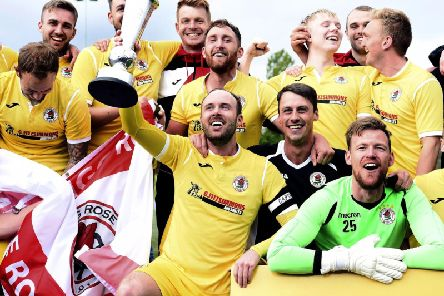Bonnyrigg Rose beat Penicuik and Broxburn in a round robin play-off to be crowned East of Scotland Champions