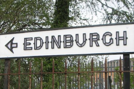 The reinstated 'Edinburgh' street sign in Newtongrange.