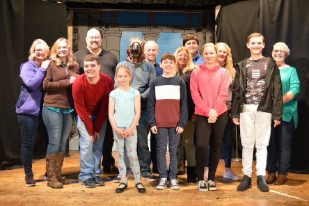 Pathhead Players cast for their last Christmas pantomine, Beauty and the Beast.