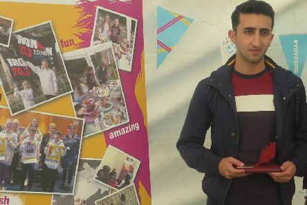 Swara Suliman, who won the Caring and Volunteering award last year for his work with Soccer City and the Midlothian Champions Board.