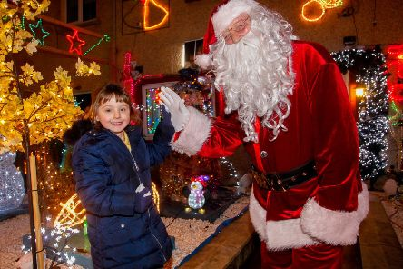 The grotto of Santa Davie Brown of Bonnyrigg who lit up the town for more than 10 years.