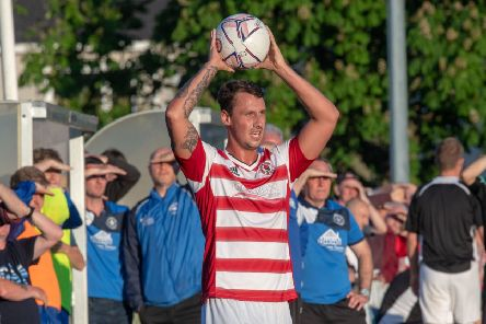 www.iangeorgesonphotography.co.uk'Fife and Lothians Cup Final 2018'Bonnyrigg Rosa Vs Newtongrange Star'Bon: Jonathan Brown'New:
